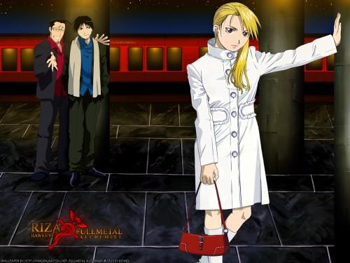 Hiromu Arakawa, BONES, Fullmetal Alchemist, Roy Mustang, Riza Hawkeye Wallpaper