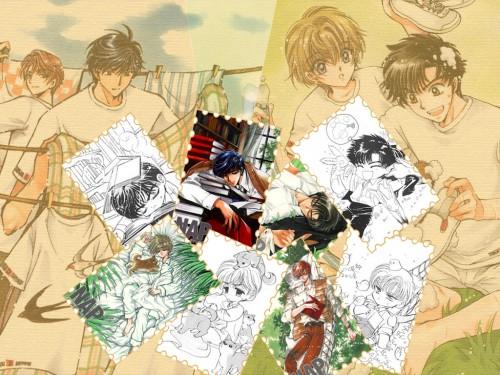 CLAMP, Soryuden, Amaru Ryudou, Hajime Ryudou, Owaru Ryudou Wallpaper