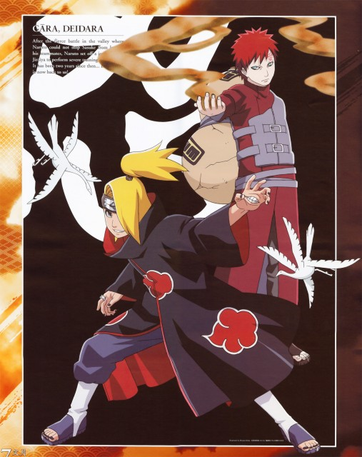 Studio Pierrot, Naruto, Gaara, Deidara, Calendar