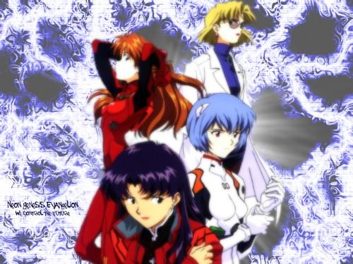 Yoshiyuki Sadamoto, Neon Genesis Evangelion, Ritsuko Akagi, Asuka Langley Soryu, Rei Ayanami Wallpaper