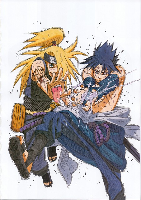 Masashi Kishimoto, Naruto, Sasuke Uchiha, Deidara