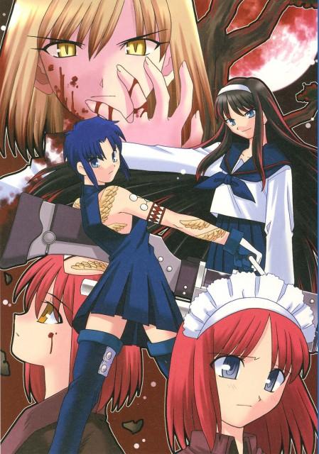 TYPE-MOON, Melty Blood, Ciel (Shingetsutan Tsukihime), Akiha Tohno, Kohaku (Shingetsutan Tsukihime)
