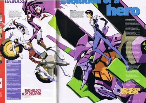Gainax, Neon Genesis Evangelion, Shinji Ikari, Unit-01, Magazine Page