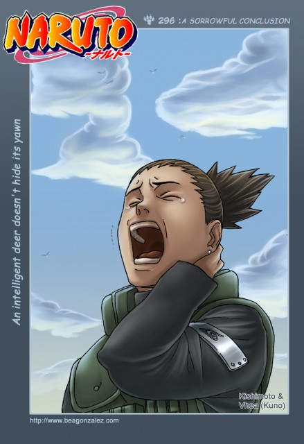 Studio Pierrot, Naruto, Shikamaru Nara, Colorizations, Chapter Cover