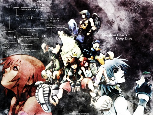 Square Enix, Kingdom Hearts, Sora, Donald Duck, Riku Wallpaper
