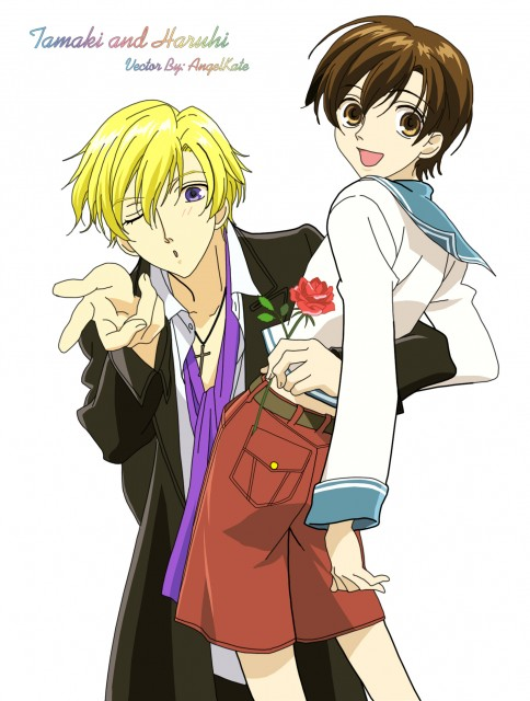 Ouran High School Host Club, Haruhi Fujioka, Tamaki Suoh, Vector Art