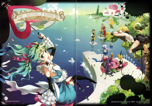Vocaloid, Len Kagamine, Rin Kagamine, Miku Hatsune, Luka Megurine