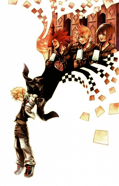 Square Enix, Kingdom Hearts Series Memorial Ultimania, Kingdom Hearts, Roxas, Axel