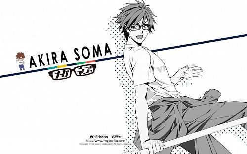 Atsuko Nakajima, Studio Deen, Meganebu!, Akira Souma, Official Wallpaper