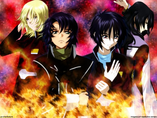 Sunrise (Studio), Mobile Suit Gundam SEED Destiny, Rey Za Burrel, Gilbert Durandal, Shinn Asuka Wallpaper