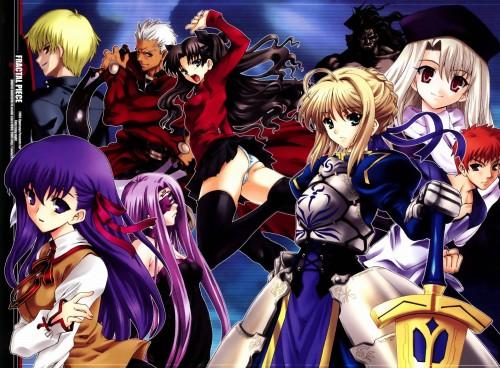 Fate/stay night, Rider (Fate/stay night), Gilgamesh (Fate/stay night), Sakura Matou, Archer (Fate/stay night)