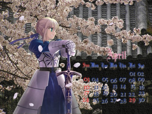 TYPE-MOON, Fate/stay night, Saber, Calendar, Occupations Wallpaper