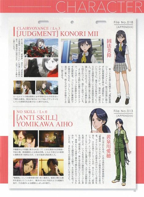 J.C. Staff, To Aru Kagaku no Railgun, Mii Konori, Character Sheet