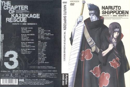 Studio Pierrot, Naruto, Kisame Hoshigaki, Itachi Uchiha, DVD Cover