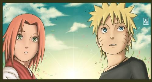 Naruto, Sakura Haruno, Naruto Uzumaki, Member Art, Colorizations
