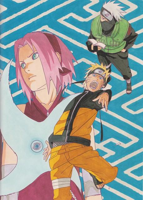 Masashi Kishimoto, Naruto, Sakura Haruno, Naruto Uzumaki, Kakashi Hatake