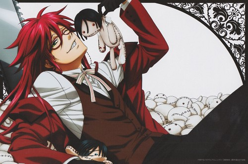 A-1 Pictures, Kuroshitsuji, Grell Sutcliff, Postcard, DVD Cover