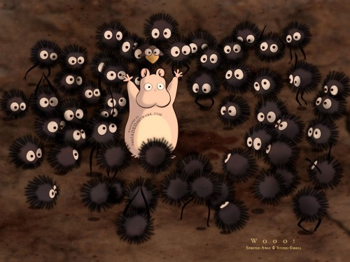 Studio Ghibli, Spirited Away, Susuwatari, Boh Wallpaper