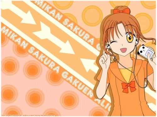 Tachibana Higuchi, Gakuen Alice, Mikan Sakura Wallpaper