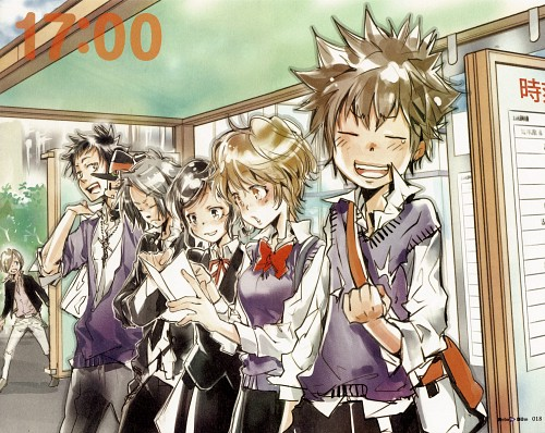 Katekyo Hitman Reborn!, REBO to DLIVE, Reborn (Character), Tsunayoshi Sawada, Takeshi Yamamoto