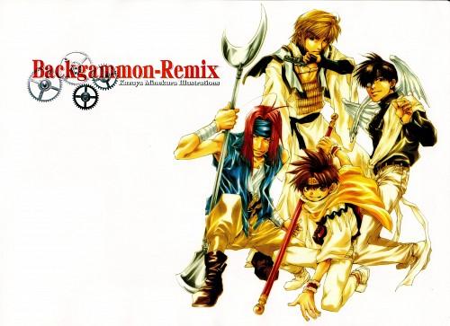 Kazuya Minekura, Studio Pierrot, Saiyuki, Backgammon Remix, Sha Gojyo