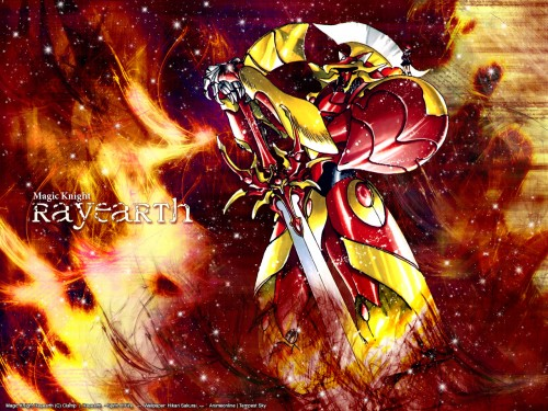 CLAMP, TMS Entertainment, Magic Knight Rayearth, Hikaru Shidou, Rayearth (Character) Wallpaper