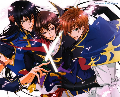 Vivi Mitsuno, Lelouch of the Rebellion, Xingke Li, Suzaku Kururugi, Lelouch Lamperouge