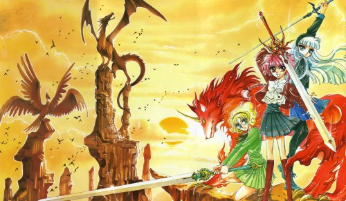 CLAMP, Magic Knight Rayearth, Magic Knight Rayearth Illustrations Collection, Selece, Hikaru Shidou
