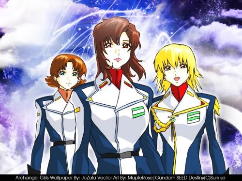 Sunrise (Studio), Mobile Suit Gundam SEED Destiny, Cagalli Yula Athha, Miriallia Haw, Murrue Ramius Wallpaper