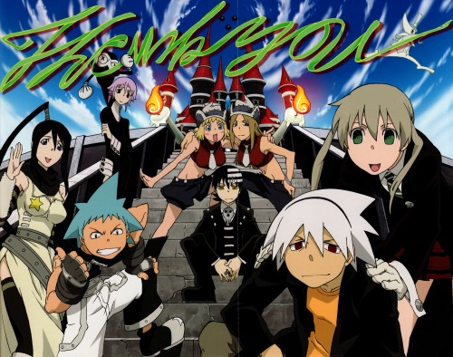 BONES, Soul Eater, Maka Albarn, Black Star, Death The Kid