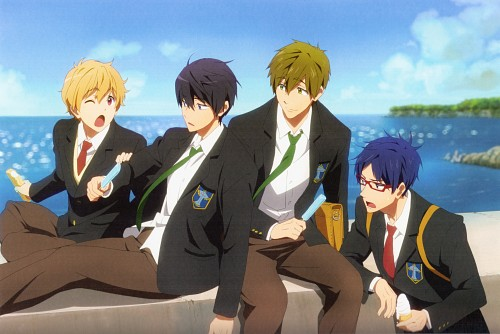 Kyoto Animation, Free!, Free! Illustration WORKS, Haruka Nanase (Free!), Makoto Tachibana