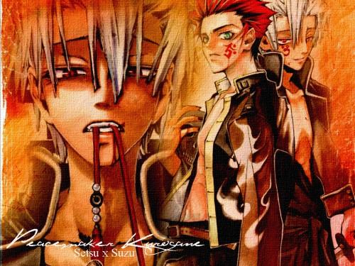 Nanae Chrono, Gonzo, Peacemaker Kurogane, Suzu Kitamura, Tetsunosuke Ichimura Wallpaper