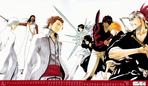 Kubo Tite, Bleach, Bleach 2009 Comic Calendar, Rukia Kuchiki, Gin Ichimaru