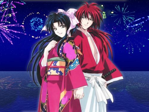 Rurouni Kenshin, Kaoru Kamiya, Kenshin Himura Wallpaper