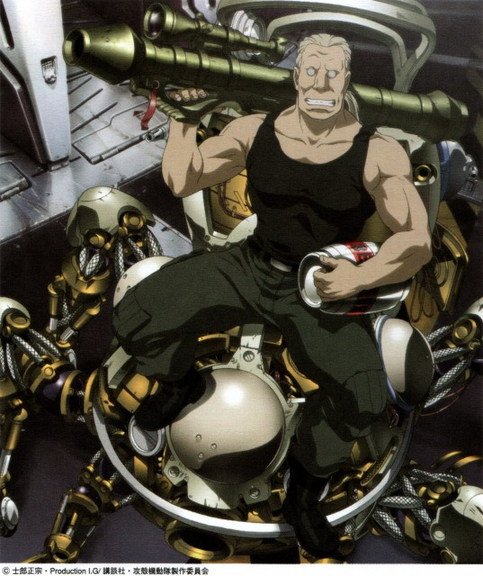Masamune Shirow, Ghost in the Shell, Tachikoma, Batou, Places