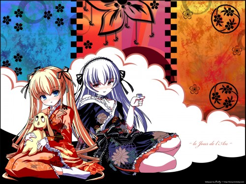 Peach-Pit, Studio Nomad, Rozen Maiden, Suigintou, Shinku Wallpaper