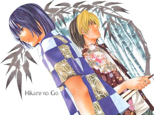 Takeshi Obata, Studio Pierrot, Hikaru no Go, Akira Touya, Hikaru Shindo Wallpaper