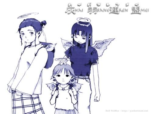 Yoshitoshi Abe, Radix, Haibane Renmei, Reki (Haibane Renmei), Nemu (Haibane Renmei) Wallpaper
