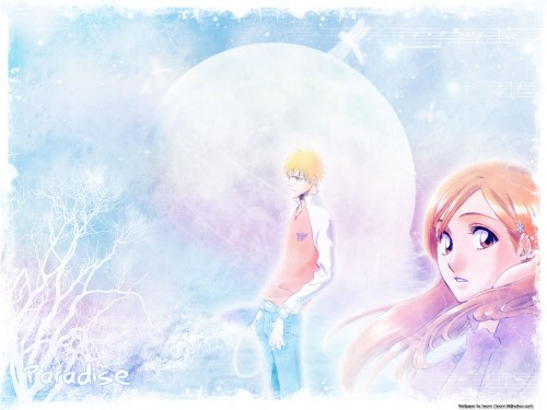 Kubo Tite, Studio Pierrot, Bleach, Orihime Inoue, Ichigo Kurosaki Wallpaper