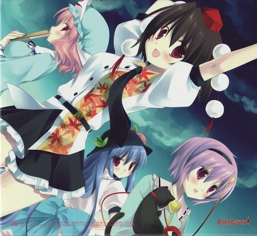 Touhou, Tenshi Hinanai, Aya Shameimaru, Yuyuko Saigyouji, Satori Komeiji