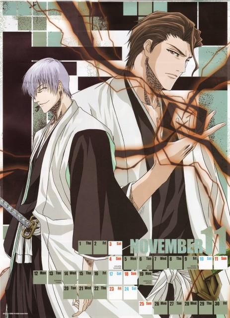 Studio Pierrot, Bleach, Bleach 2007 Calendar, Gin Ichimaru, Sousuke Aizen