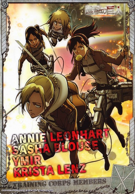 Production I.G, Shingeki no Kyojin, Ymir, Annie Leonhardt, Sasha Blouse