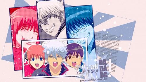 Hideaki Sorachi, Sunrise (Studio), Gintama, Shinpachi Shimura, Gintoki Sakata Wallpaper