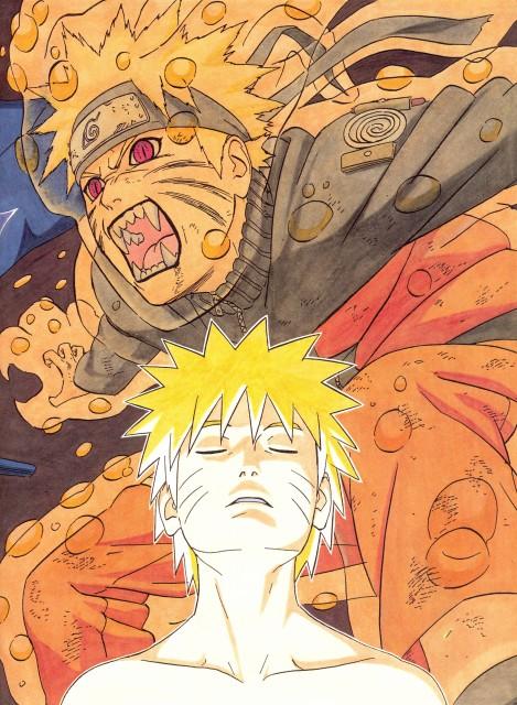 Masashi Kishimoto, Naruto, NARUTO Illustrations, Naruto Kyuubi Mode, Naruto Uzumaki