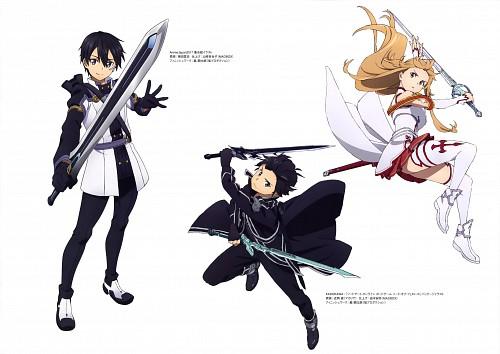 Sunao Chikaoka, Sword Art Online Ordinal Scale Artworks, Sword Art Online, Kazuto Kirigaya, Asuna Yuuki