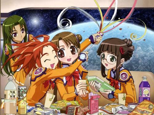 Uchuu no Stellvia, Shima Katase, Akira Kayama, Yayoi Fujisawa, Arisa Glennorth Wallpaper
