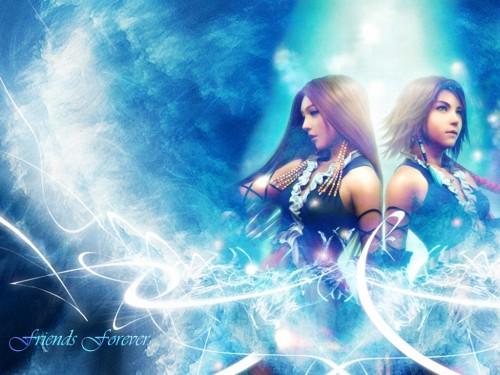 Square Enix, Final Fantasy X-2, Lenne, Yuna Wallpaper