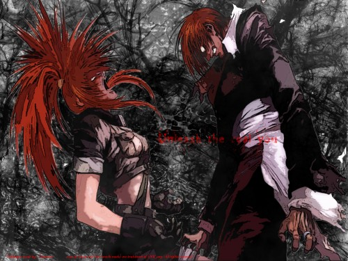 SNK, King of Fighters, Iori Yagami, Leona Wallpaper