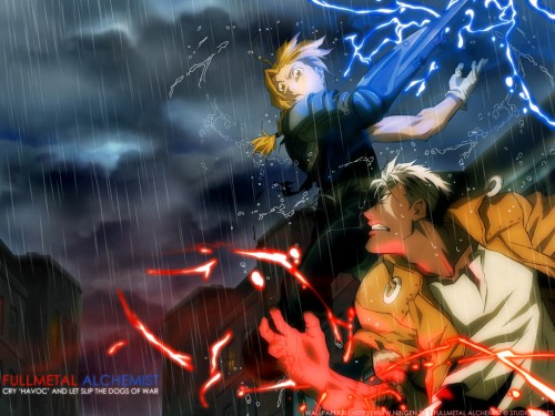 Hiromu Arakawa, BONES, Fullmetal Alchemist, Edward Elric, Scar (FMA) Wallpaper