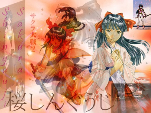 Kousuke Fujishima, Sega, Sakura Wars, Sakura Shinguji Wallpaper